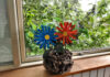 papirstrimmel blomster