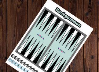 backgammon til at printe ud