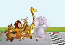 løb om kap med dyrene