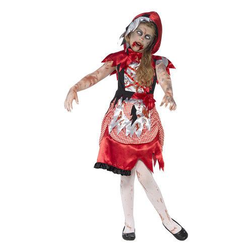 Rødhætte zombie kostume