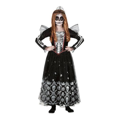 skelet prinsesse. Et af mange uhyggelige Halloween kostumer til børn